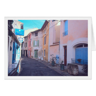 """COLORFUL BUILDING FACADES ON EUROPEAN STREET"" CARD"