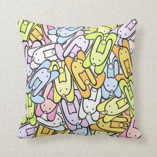 colorful bunnies cushion