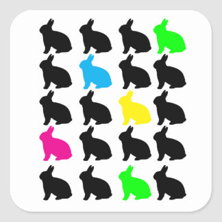 Colorful Bunnies Sticker