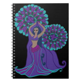 Colorful Burst Belly Dancer Notebook