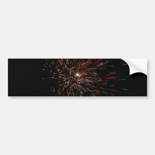 Colorful burst of firecracker during Diwali Bumper Sticker
