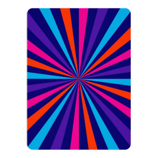 Colorful Burst Spinning Wheel Design 14 Cm X 19 Cm Invitation Card