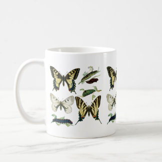 Colorful Butterflies and Caterpillars Coffee Mug
