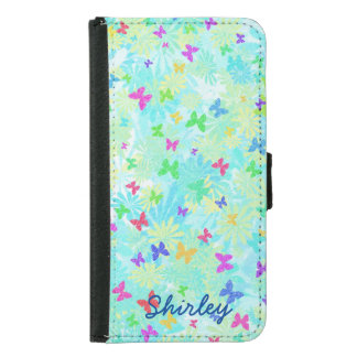 Colorful Butterflies and Daisies by Shirley Taylor Samsung Galaxy S5 Wallet Case