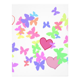 colorful butterflies and loving hearts 21.5 cm x 28 cm flyer