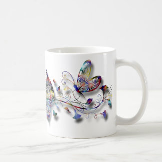 Colorful Butterflies Basic White Mug