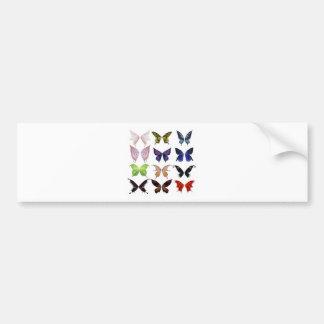Colorful butterflies bumper sticker