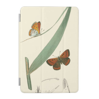 Colorful Butterflies Fluttering Around a Leaf iPad Mini Cover