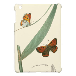 Colorful Butterflies Fluttering Around a Leaf iPad Mini Covers