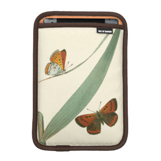 Colorful Butterflies Fluttering Around a Leaf iPad Mini Sleeve