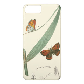 Colorful Butterflies Fluttering Around a Leaf iPhone 8 Plus/7 Plus Case