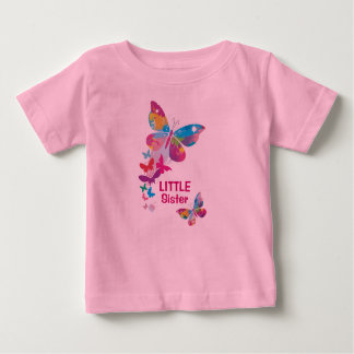 Colorful Butterflies LITTLE Sister Shirt
