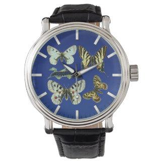 Colorful Butterflies, Moths and Caterpillars Wristwatches