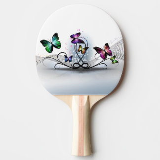 Colorful Butterflies Ping Pong Paddle