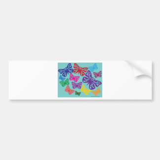 Colorful Butterflies.png Bumper Sticker