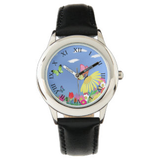 Colorful Butterflies Watch