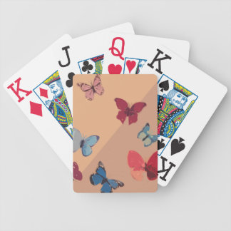 Colorful Butterfly Art Bicycle Playing Cards