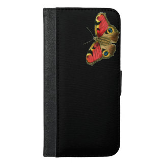Colorful butterfly black pattern iPhone 6/6s plus wallet case