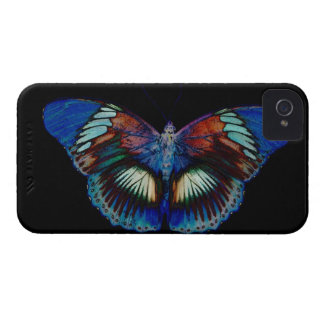 Colorful Butterfly design against black backdrop 2 iPhone 4 Case-Mate Case