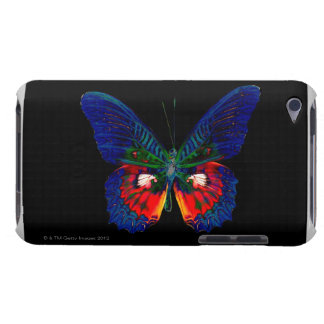 Colorful Butterfly design against black backdrop 2 iPod Case-Mate Case