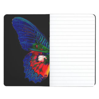 Colorful Butterfly design against black backdrop 2 Journal
