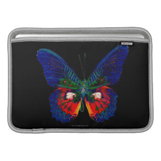 Colorful Butterfly design against black backdrop 2 MacBook Sleeve