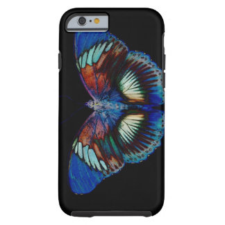 Colorful Butterfly design against black backdrop 2 Tough iPhone 6 Case