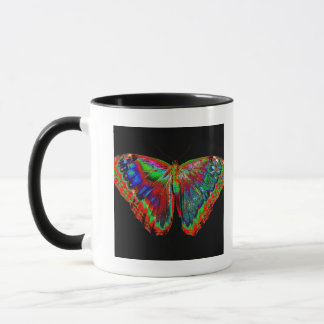 Colorful Butterfly design against black backdrop 3 Mug