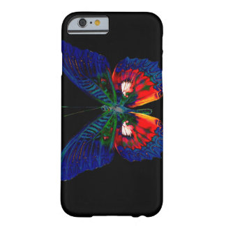 Colorful Butterfly design against black backdrop Barely There iPhone 6 Case