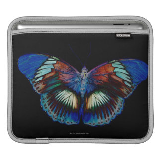 Colorful Butterfly design against black backdrop iPad Sleeve