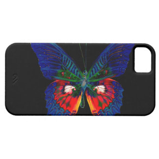 Colorful Butterfly design against black backdrop iPhone 5 Case