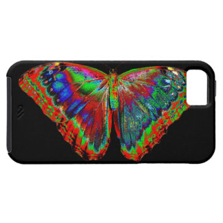 Colorful Butterfly design against black backdrop iPhone 5 Cover