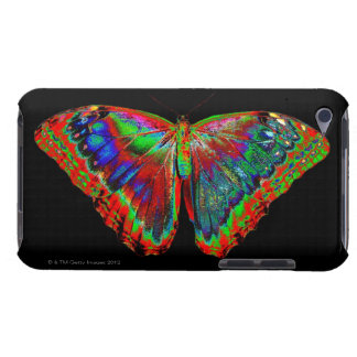 Colorful Butterfly design against black backdrop iPod Case-Mate Case