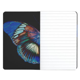 Colorful Butterfly design against black backdrop Journal