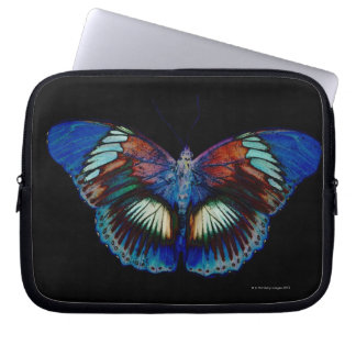 Colorful Butterfly design against black backdrop Laptop Sleeve