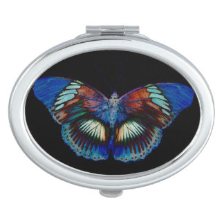 Colorful Butterfly design against black backdrop Mirror For Makeup