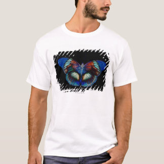 Colorful Butterfly design against black backdrop T-Shirt