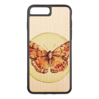 Colorful Butterfly Illustration Carved iPhone 8 Plus/7 Plus Case