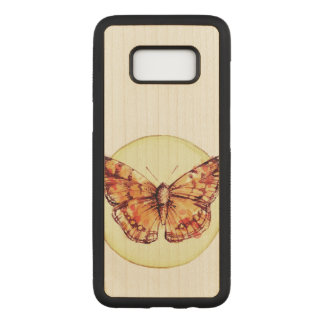 Colorful Butterfly Illustration Carved Samsung Galaxy S8 Case