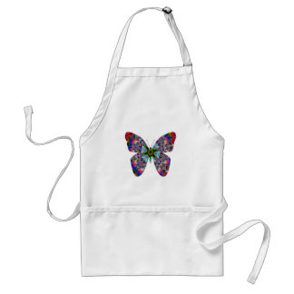 Colorful Butterfly Mandala Standard Apron