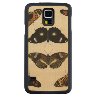Colorful Butterfly Medley on Cream Background Carved Maple Galaxy S5 Case