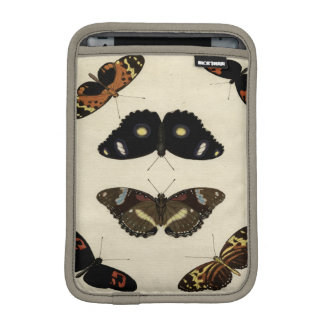 Colorful Butterfly Medley on Cream Background iPad Mini Sleeve