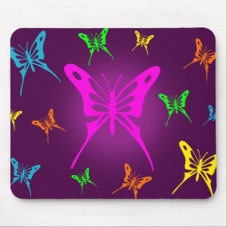 Colorful Butterfly Mouse Mat