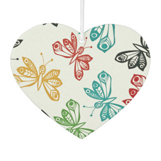 Colorful butterfly pattern car air freshener