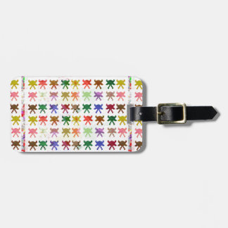 Colorful butterfly pattern graphic design luggage tag