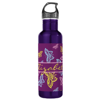 Colorful Butterfly Personalize Pattern 710 Ml Water Bottle