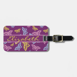 Colorful Butterfly Personalize Pattern Tags For Luggage