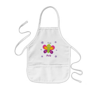 Colorful Butterfly Personalized Kids Apron