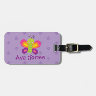 Colorful Butterfly Personalized Luggage Tag