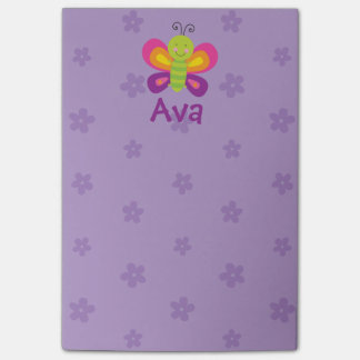 Colorful Butterfly Personalized Post-it Notes